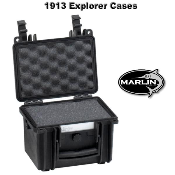 1913 Explorer Cases schwarz Schaumstoff