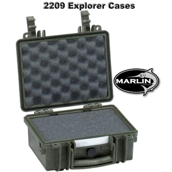 2209 Explorer Cases grün Schaumstoff
