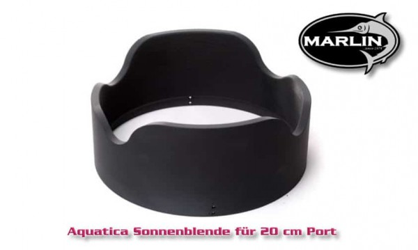 Aquatica sun visor for 20 cm port