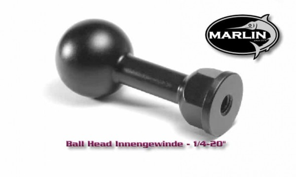 """Ball Head Innengewinde mit 1/4-20"""""""