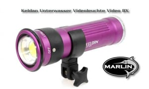Keldan Underwater Video Light Video 8X