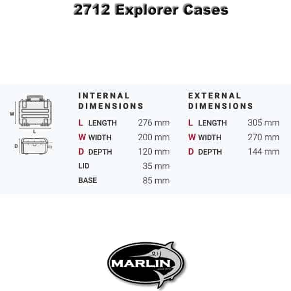 2712 Explorer Cases Dimensionen