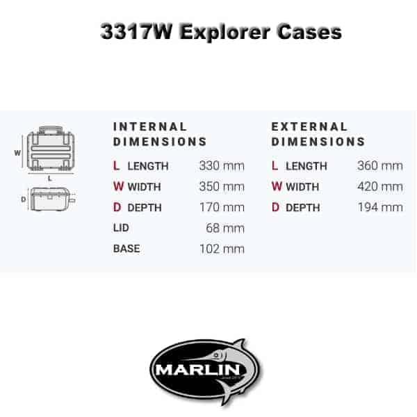 3317W Explorer Cases Dimensionen