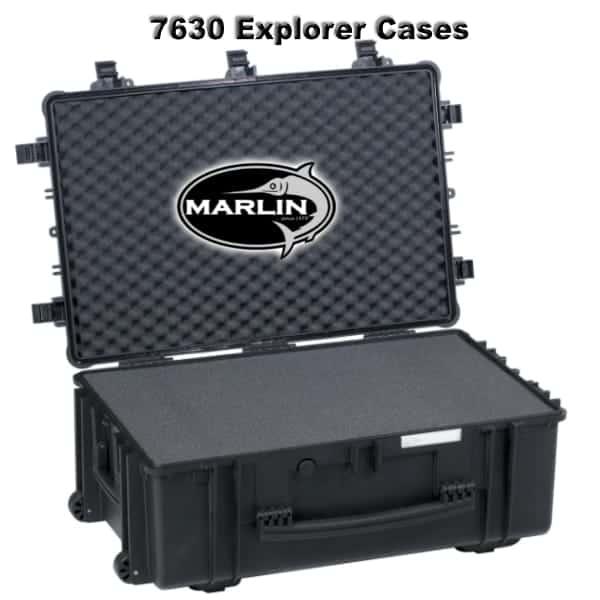 7630 Explorer Cases schwarz Schaumstoff