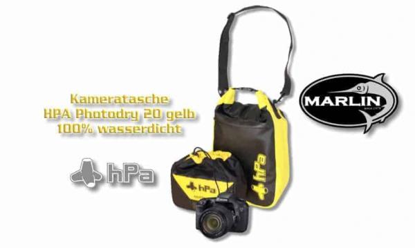 Kameratasche HPA Photodry 20 gelb, gefertigt aus PVC-Material