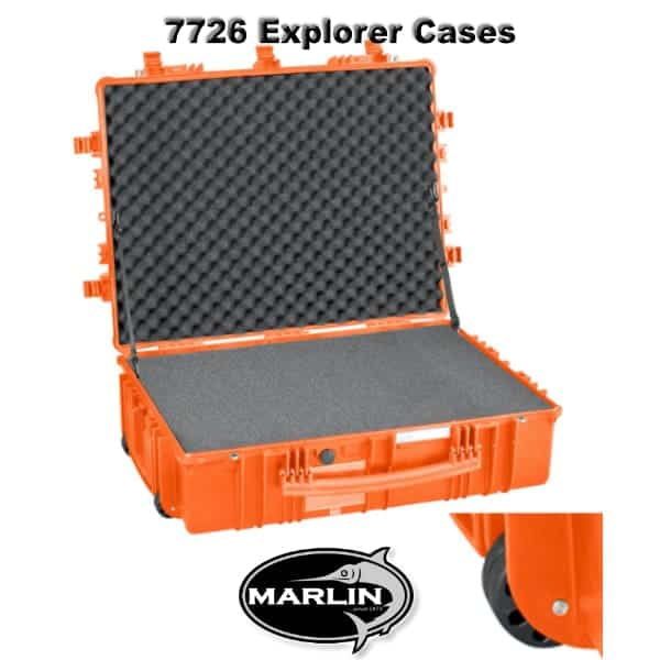 7726 Explorer Cases orange Schaumstoff