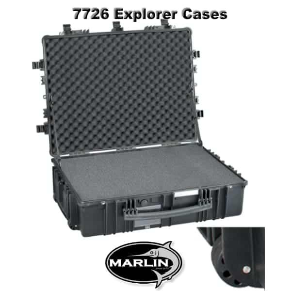7726 Explorer Cases schwarz Schaumstoff