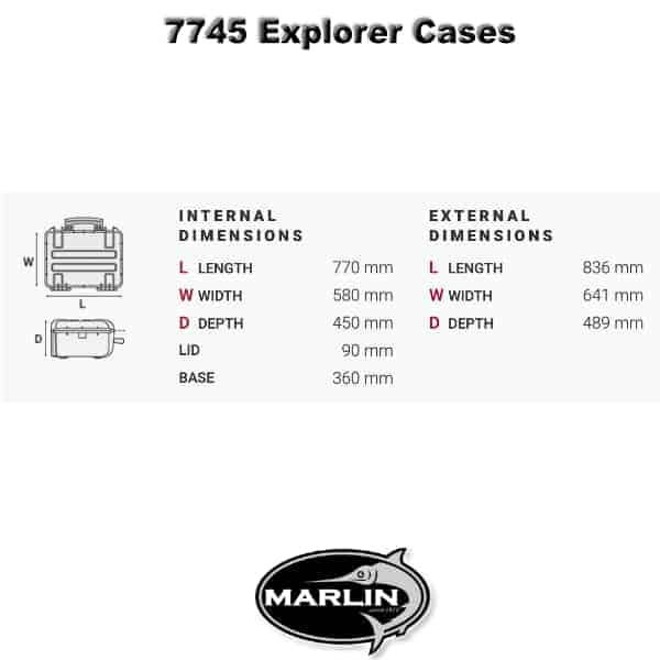 7745 Explorer Cases Dimensionen
