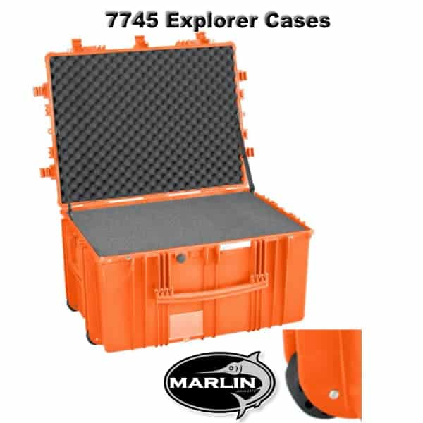 7745 Explorer Cases orange Schaumstoff