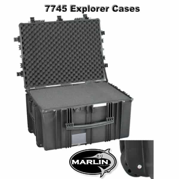 7745 Explorer Cases schwarz Schaumstoff