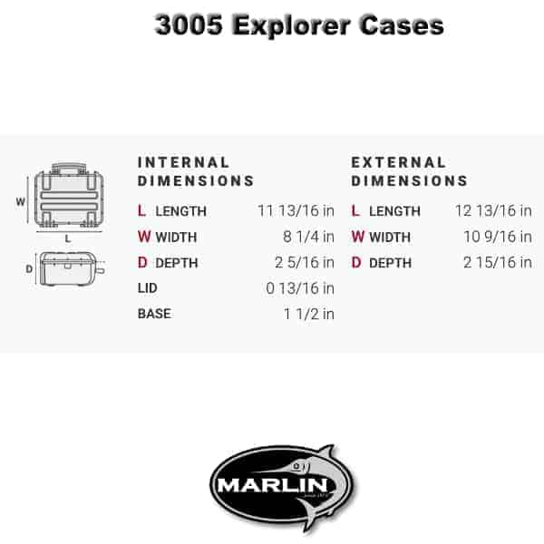 3005 Explorer Cases Dimensionen