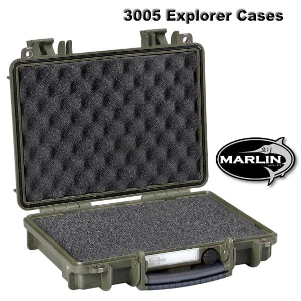 3005 Explorer Cases grün Schaumstoff