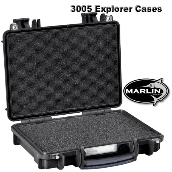 3005 Explorer Cases schwarz Schaumstoff