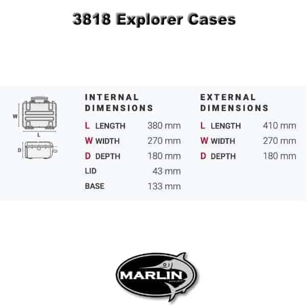 3818 Explorer Cases Dimensionen