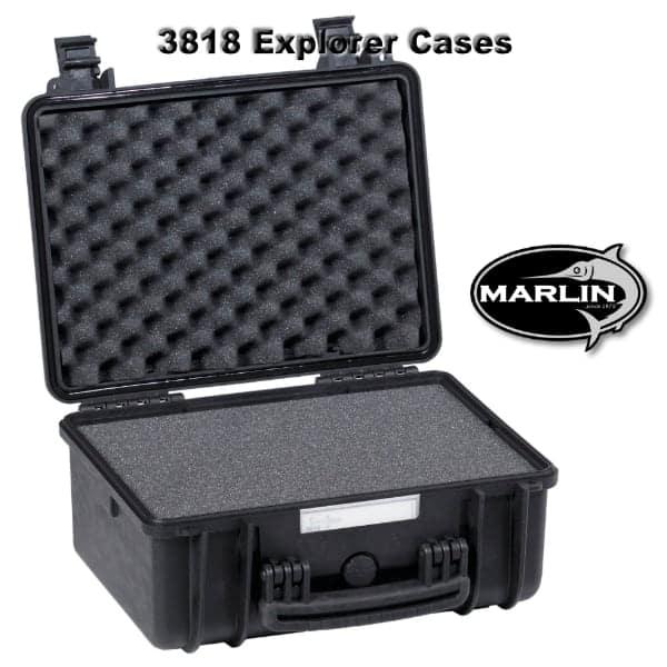 3818 Explorer Cases schwarz Schaumstoff