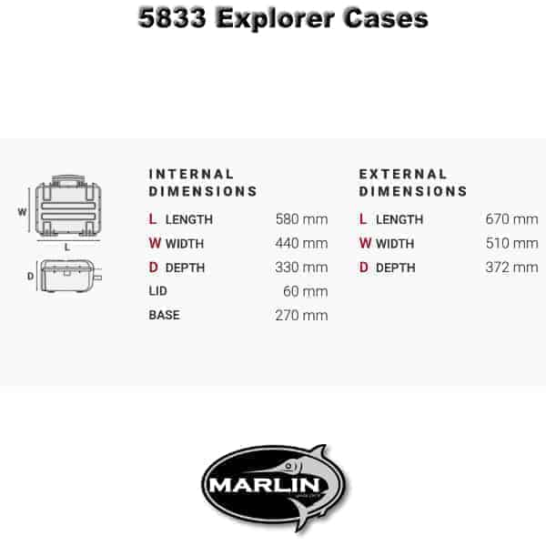 5833 Explorer Cases Dimensionen