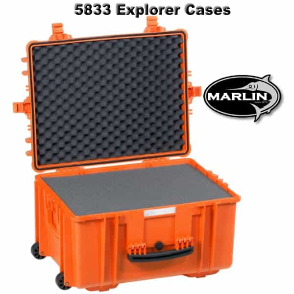 5833 Explorer Cases orange Schaumstoff