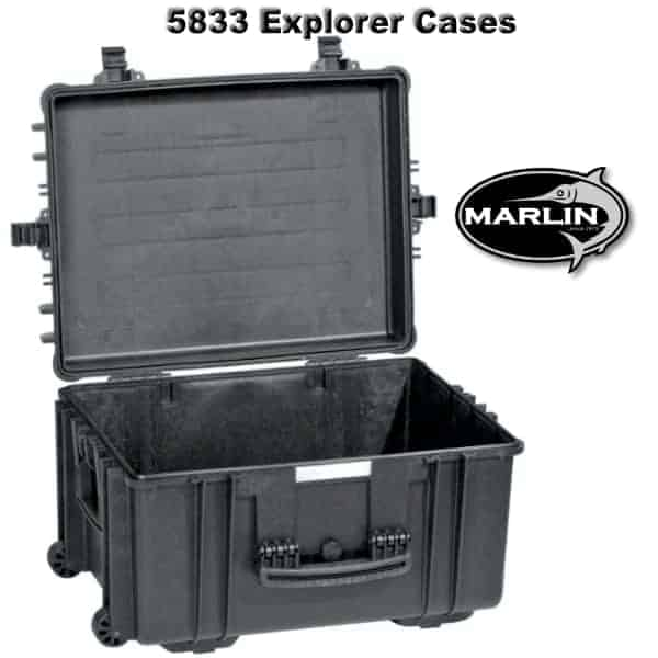 5833 Explorer Cases schwarz leer