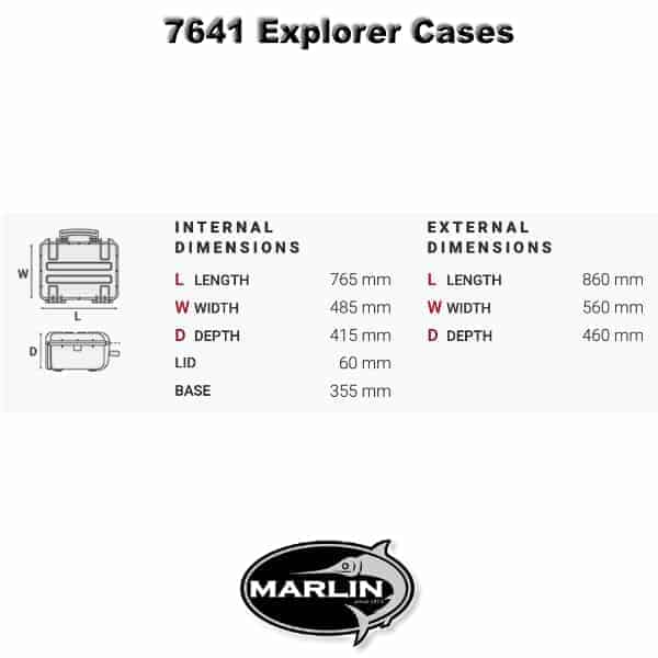 7641 Explorer Cases Dimensionen