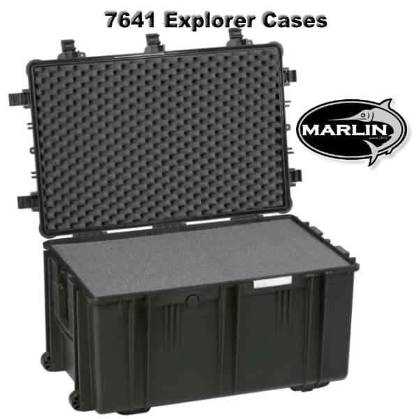 7641 Explorer Cases schwarz Schaumstoff