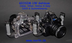 GIOSIM UW Gehäuse DSLR Nikon, Canon, Pentax, Sony