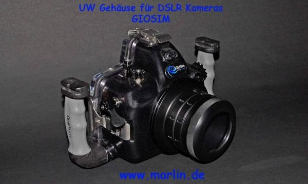 UW Gehäuse GIOSIM für DSLR Nikon, Canon, Pentax, Sony