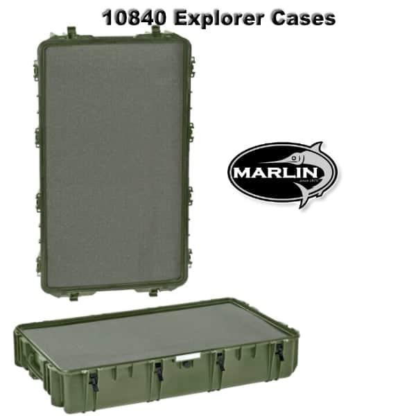10840 Explorer Cases grün Schaumstoff