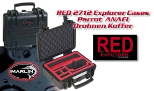 RED 2712 Parrot Explorer Cases | Koffer für Parrot Anafi Drohne