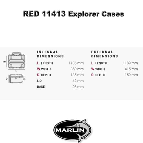 Dimensionen RED 11413 Explorer Cases