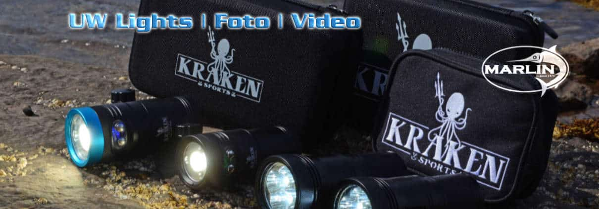 UW Lights Foto, Kraken Light UW Video