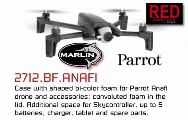 RED 2712 Parrot Drohnen Case