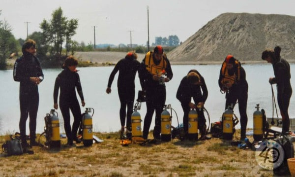 Picture-12.2 Diving training at the lake