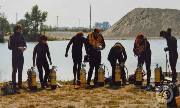 Bild-12.2 Tauchausbildung am See