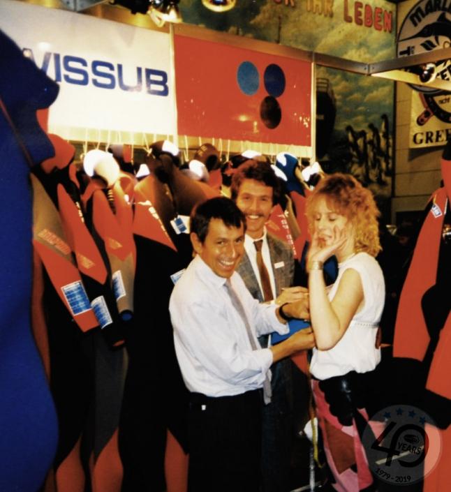 Swissub, Michel de Siebenthal beim Massnehmen
