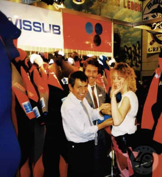 Bild-2.1 Swissub Michel de Siebenthal beim Massnehmen