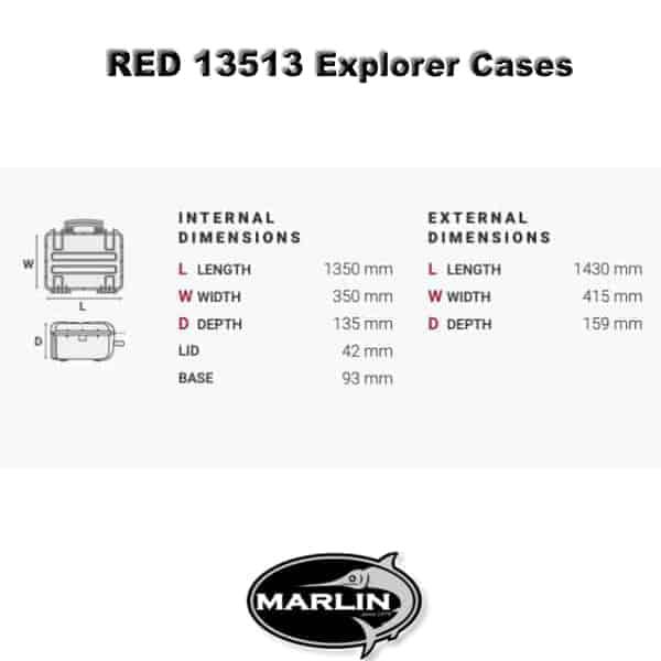 Dimensionen RED 13513 Explorer Cases