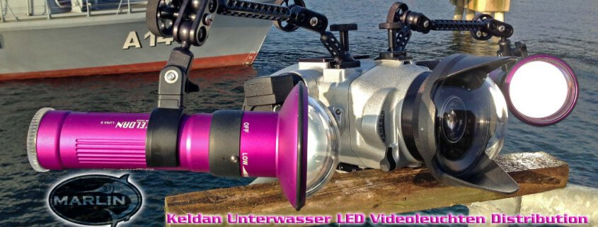 Keldan Unterwasser LED Videoleuchten Distribution