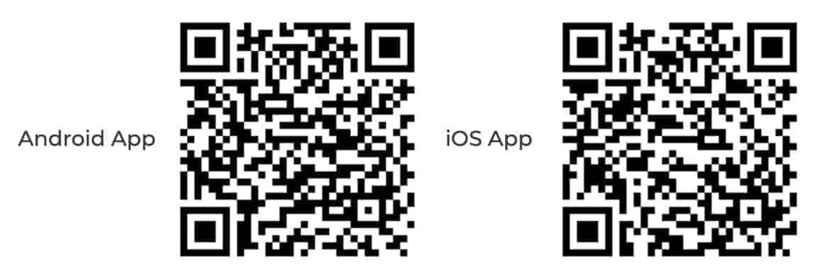 Kraken App - Download QR Code für Apple und Android