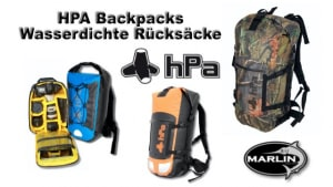HPA Backpack variants, waterproof backpacks