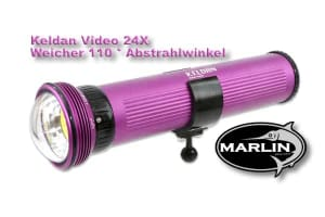 Keldan video light 24X, 110 degree beam angle