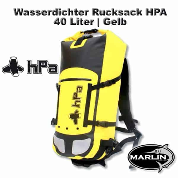 Waterproof Backpack HPA 40 litre Yellow