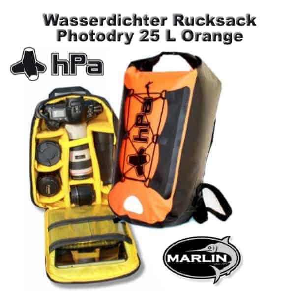 Wasserdichter Rucksack Photodry 25 L Orange