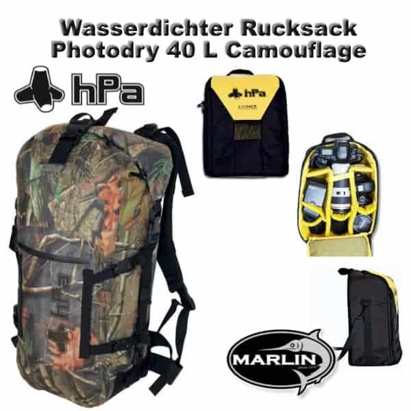 Wasserdichter Rucksack Photodry 40 L Camouflage