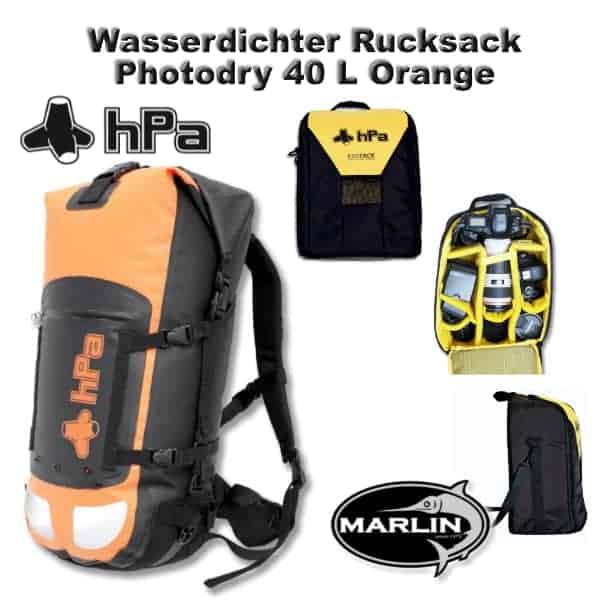 Wasserdichter Rucksack Photodry 40 L Orange